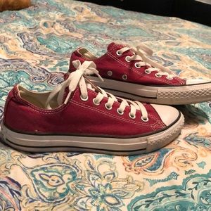 Ladies Maroon Converse